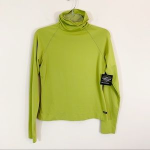 Athleta • Chartreuse Turtleneck Top Size Small